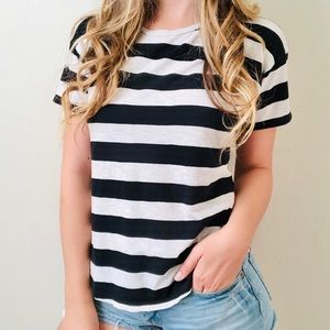 Madewell black & white striped tee